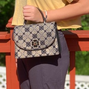NWT KATE SPADE ODETTE JACQUARD SMALL TOP SATCHEL